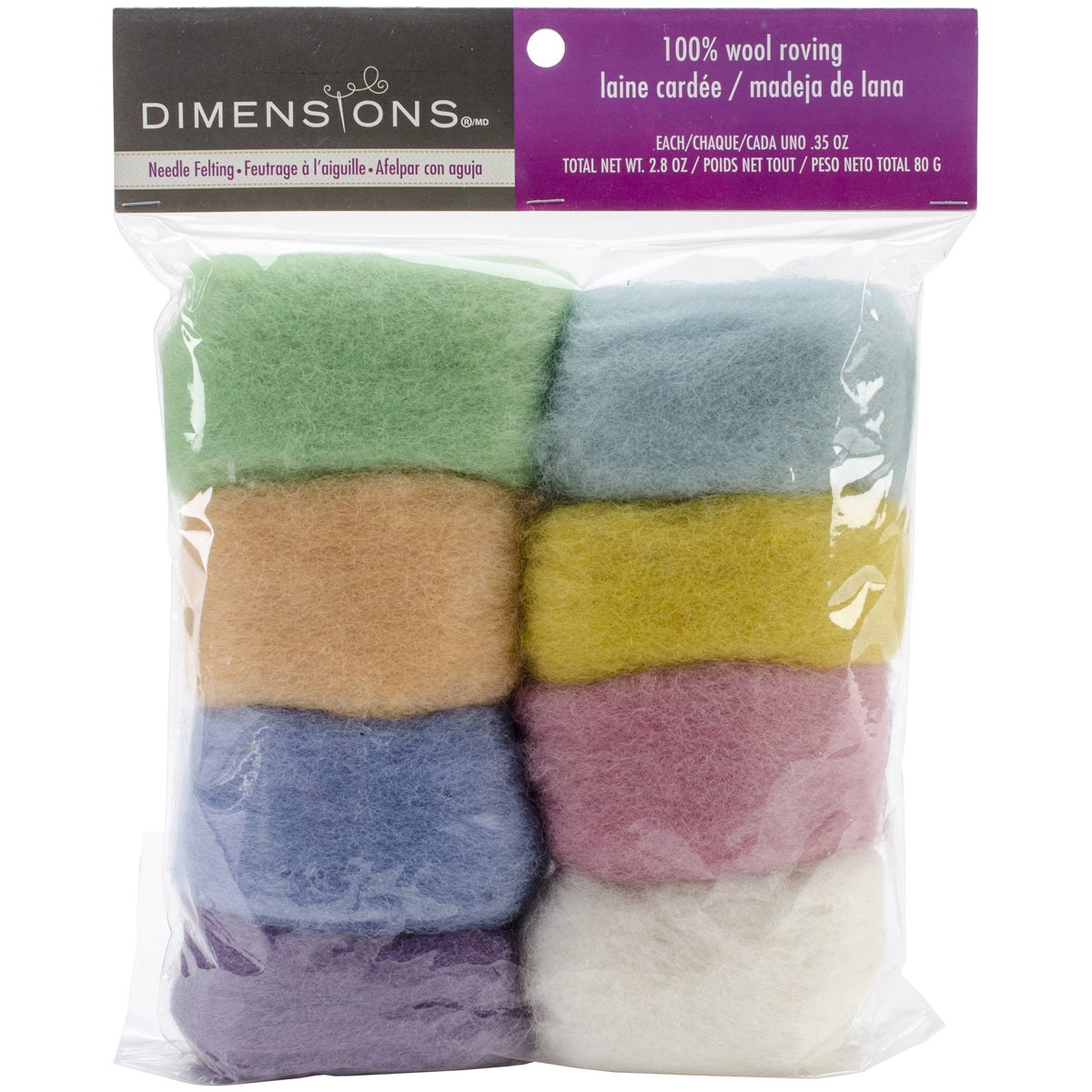 DIMENSIONS Feltworks Roving Value Pack 2.8ozPastel (Paste...