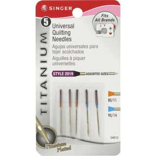 Titanium Universal Quilting Machine NeedlesSizes 11/80 (3) & 14/90 (2)