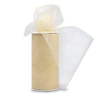 Glitter Tulle 6inX25yd SpoolGold W/Gold Glitter|https://ak1.ostkcdn.com/images/products/10569412/P17646531.jpg?_ostk_perf_=percv&impolicy=medium