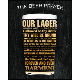 The Beer Prayer (16-inch x 20-inch) on Woodmount