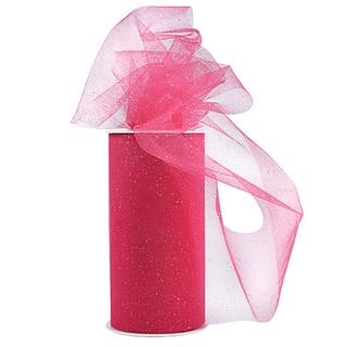 Glitter Tulle 6inX25yd SpoolFuchsia W/Silver Glitter|https://ak1.ostkcdn.com/images/products/10569417/P17646561.jpg?impolicy=medium