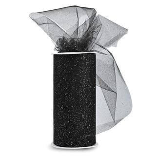 Glitter Tulle 6inX25yd SpoolBlack W/Silver Glitter|https://ak1.ostkcdn.com/images/products/10569425/P17646532.jpg?impolicy=medium