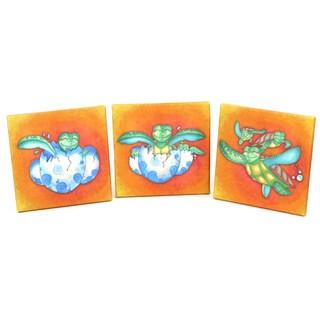 Growing Kids 'Sea Turtle Journey' Canvas Wall Art Triple Print Set