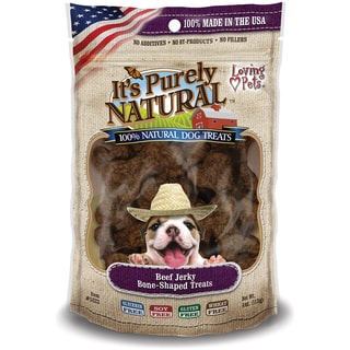 It's Purely Natural 4-ounce Beef Jerky Bone Shaped Dog Treats