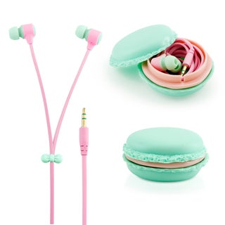 Gearonic Stereo 3.5 millimeter In-ear Earbuds Headset with Macaron Case