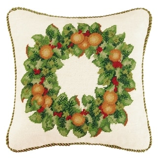 Holiday Wreath Throw Pillow - 16 inch