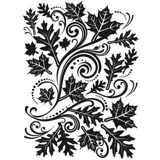 Embossing Folder 4.25inX5.75inFall Leaf Background
