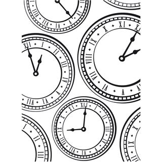 Embossing Folder 4.25inX5.75inClock Background
