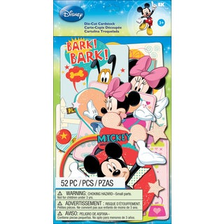 Disney Cardstock DieCuts 52/PkgMickey Family