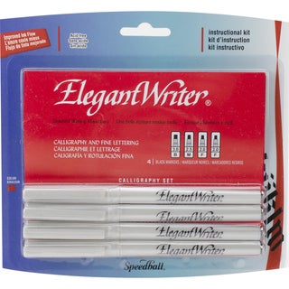 Speedball Elegant Writer Calligraphy Markers 4/PkgBlack 2 Fine, 1 Medium & 1 Broad Point