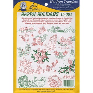 Aunt Martha'a IronOn Transfer CollectionHappy Holidays