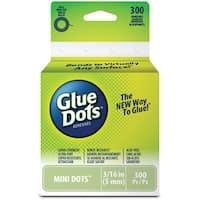 Glue Dots .1875 Mini Dot Roll300 Clear Dots