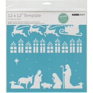 Template 12inX12inChristmas Strip