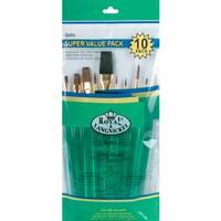 Ultra Short Sable/Camel Super Value Pack Brush Set10/Pkg