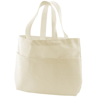 Canvas Small Pocket Tote Bag 9inX2.75inX10inNatural