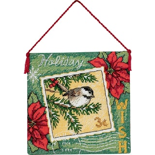 Gold Petite Wish Ornament Counted Cross Stitch Kit4.5inX4.5in 18 Count