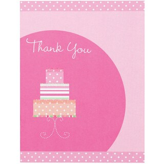 Thank You Card Kit Makes 12 Bridal Shower