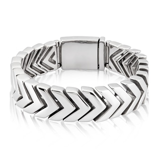 Crucible Stainless Steel Chevron Link Bracelet