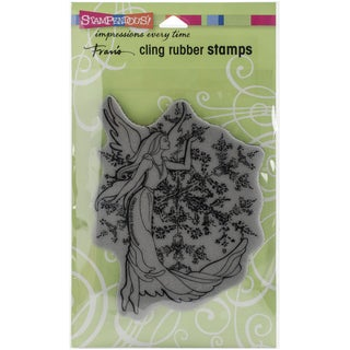 Stampendous Christmas Cling Rubber Stamp 7.75inX4.5in SheetCrystal Angel