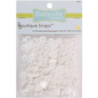 Babyville Boutique Snaps Size 20 60/PkgWhite