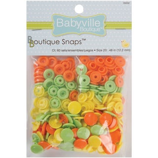 Babyville Boutique Snaps Size 20 60/PkgSolid  Green, Yellow & Orange