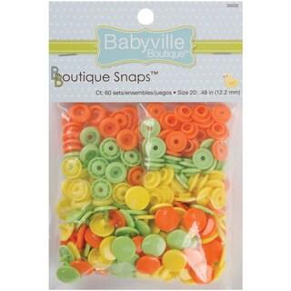 Babyville Boutique Snaps Size 20 60/PkgSolid Green, Yellow & Orange