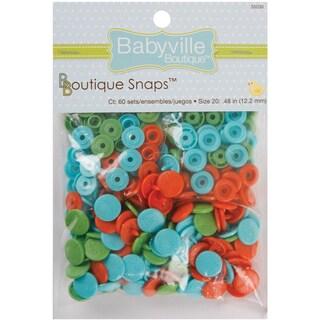 Babyville Boutique Snaps Size 20 60/PkgPlayful Pond Green, Blue & Orange