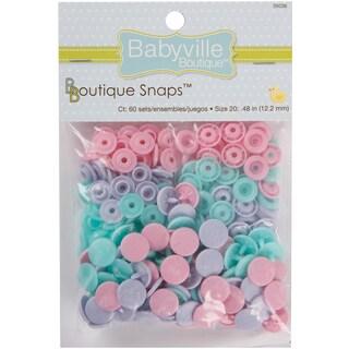 Babyville Boutique Snaps Size 20 60/PkgButterflies Pink, Purple & Blue