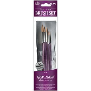 Gold Taklon Value Pack Brush Set5/Pkg