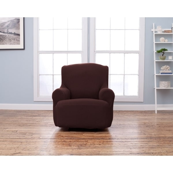 Savannah Collection Form Fit Stretch Chair Protector Slipcover