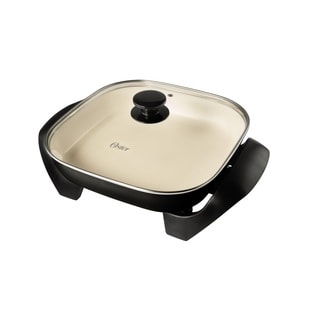 Oster CKSTSKFM12W-ECO Black DuraCeramic Electric Skillet