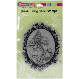 Stampendous Christmas Cling Rubber Stamp 7.75inX4.5in SheetClassic Santa