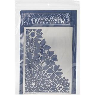 Dreamweaver Metal Stencil 6inX8.75inCorner Flower