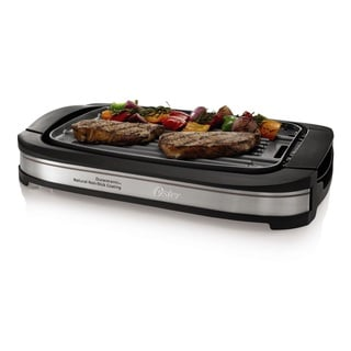 Oster CKSTGR3007-ECO Black DuraCeramic Reversible Grill and Griddle