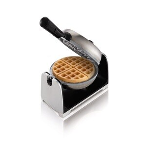 Oster CKSTWFBF22-ECO Stainless Steel DuraCeramic Flip Waffle Maker (Option: Silver)