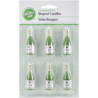 Candles & Cake Decorations 2in 6/PkgChampagne Bottles