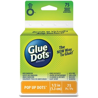 Glue Dots .5in Pop Up Dot Roll75 Clear Dots