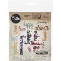 Sizzix Thinlits Dies 13/Pkg By Tim HoltzCelebration Script Words