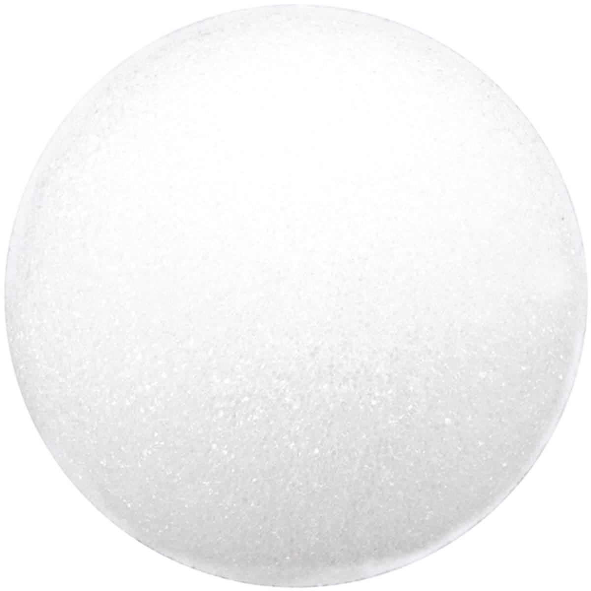 Floracraft Styrofoam Ball6in (6in), White