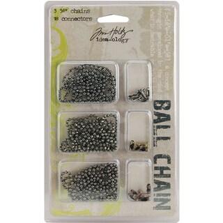 IdeaOlogy Ball Chains 36in 3/Pkg Each W/6 ConnectorsAntique Nickel, Brass & Copper