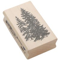 Inkadinkado Mounted Rubber Stamp 2.5inX1.5inPine Trees