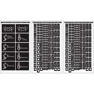 Rub 'N' Etch Designer Stencils 5inX8in 3/PkgWedding Moments