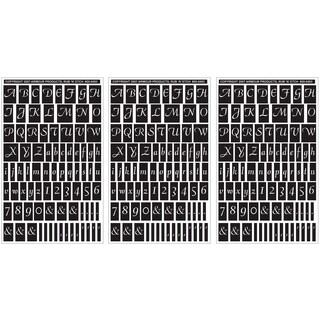 Rub 'N' Etch Designer Stencils 5inX8in 3/PkgScript Letters & Numbers