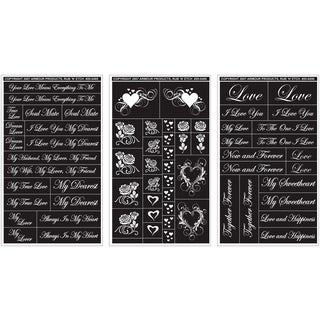 Rub 'N' Etch Designer Stencils 5inX8in 3/PkgRomantic Moments