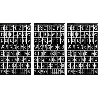 Rub 'N' Etch Designer Stencils 5inX8in 3/PkgGala Letters & Numbers