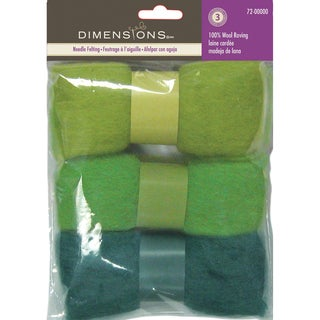Feltworks Roving Trio Pack 1.58ozBlue Green