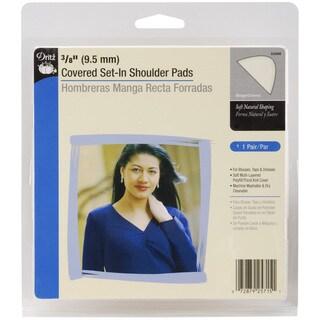 3/8in Covered SetIn Shoulder Pads 2/PkgBeige
