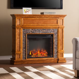 Harper Blvd Newman Simulated Stone Media Center Electric Fireplace