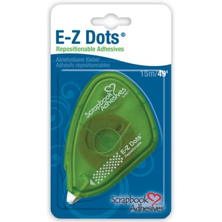 Scrapbook Adhesives EZ Dots DispenserRepositionable, .375inX49'