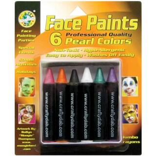 Face Paint Jumbo Crayons 6/PkgPearl